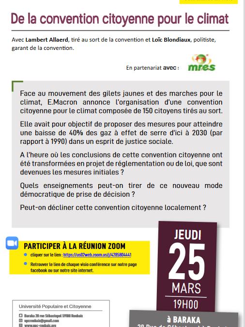 De la convention citoyenne pour le climat